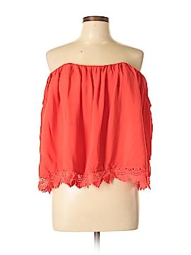 Lovers + Friends Short Sleeve Blouse Size L