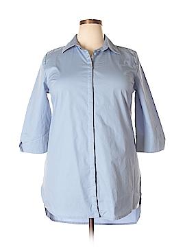 Roaman's 3/4 Sleeve Button-Down Shirt Size 14