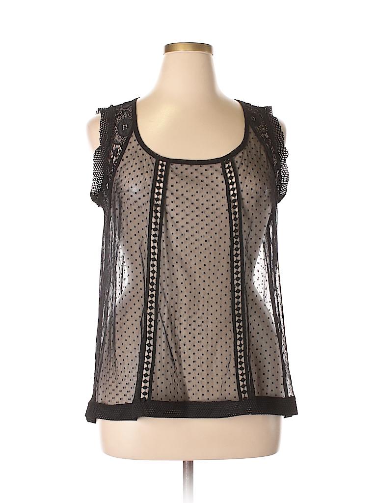 68c434ababf Torrid 100% Nylon Lace Polka Dots Black Sleeveless Top Size 1X Plus ...