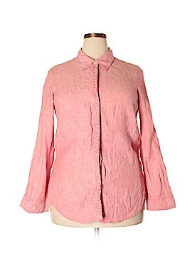 Studio by Liz Claiborne Long Sleeve Button-Down Shirt Size 1X (Plus)