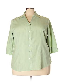 Fashion Bug 3/4 Sleeve Button-Down Shirt Size 22/24 (Plus)