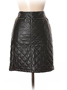 Carmen Carmen Marc Valvo Faux Leather Skirt Size 4