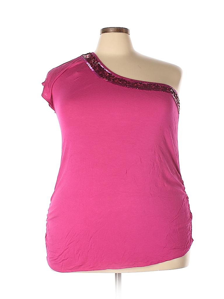 Lane Bryant Women Short Sleeve Top Size 28 - 26 Plus (Plus)