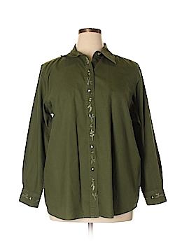 Cherokee Long Sleeve Button-Down Shirt Size 18 (Plus)