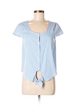 Pink Rose Short Sleeve Button-Down Shirt Size M