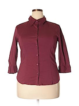 Apostrophe Long Sleeve Button-Down Shirt Size XL