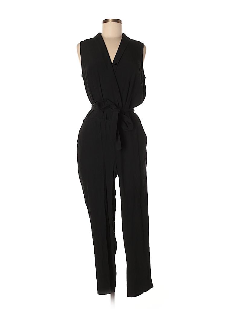 47cb469e77d7 Ann Taylor LOFT Solid Black Jumpsuit Size 8 (Petite) - 50% off