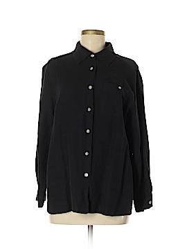 Dialogue Long Sleeve Button-Down Shirt Size M