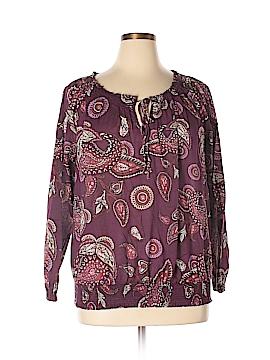 Merona Long Sleeve Blouse Size 1X (Plus)