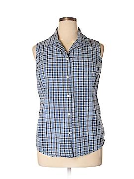Faded Glory Sleeveless Button-Down Shirt Size 18/20W (Plus)