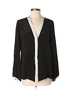 Zoe & Sam Long Sleeve Silk Top Size M