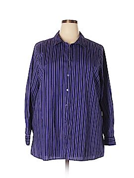 Roaman's Long Sleeve Button-Down Shirt Size 22W (Plus)