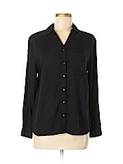 George Women Long Sleeve Button-Down Shirt Size 8