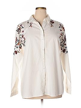 Beach Lunch Lounge Long Sleeve Button-Down Shirt Size XL