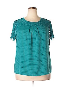 Worthington Short Sleeve Blouse Size 0X (Plus)
