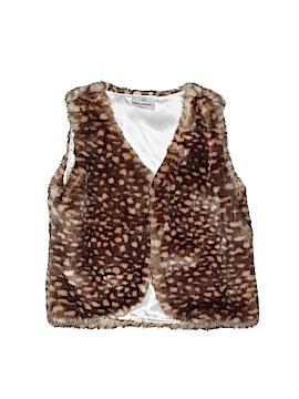 Hanna Andersson Faux Fur Vest Size 120 (CM)