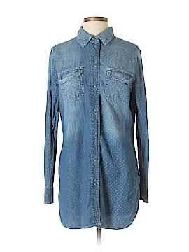 ABS Allen Schwartz Long Sleeve Button-Down Shirt Size M