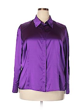 Marina Rinaldi Long Sleeve Silk Top Size 18 (27) (Plus)