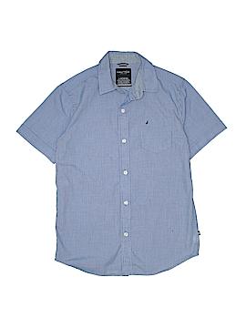 Nautica Short Sleeve Button-Down Shirt Size 14