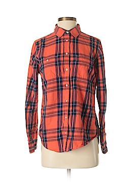 Stylus Long Sleeve Button-Down Shirt Size M