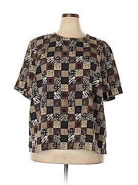 Maggie Barnes Short Sleeve Blouse Size 2X (Plus)