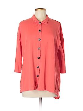 Neon Buddha 3/4 Sleeve Button-Down Shirt Size M