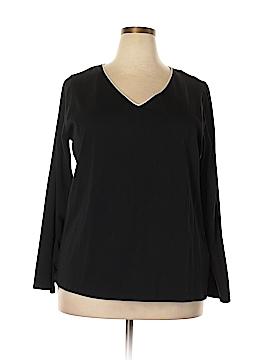 Jones New York Long Sleeve T-Shirt Size 3X (Plus)