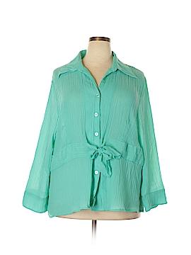 Rafael Long Sleeve Blouse Size 3X (Plus)