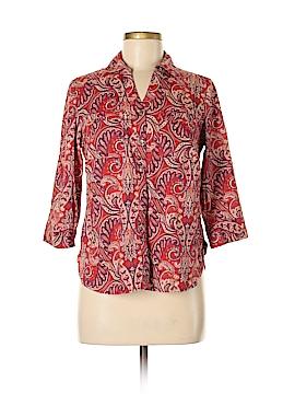 Croft & Barrow 3/4 Sleeve Button-Down Shirt Size S (Petite)