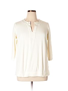 Jones New York Sport 3/4 Sleeve Top Size 1X (Plus)