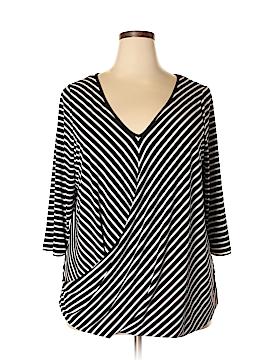 Boutique + 3/4 Sleeve Top Size 1X (Plus)