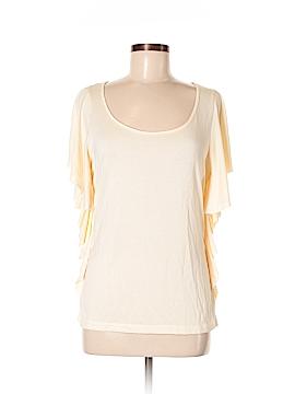 August Silk Short Sleeve Top Size M