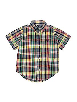 Chaps Short Sleeve Button-Down Shirt Size 3T