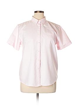 Cabin Creek Short Sleeve Button-Down Shirt Size 14