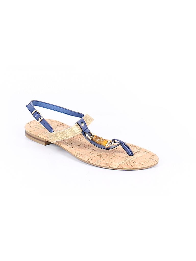 6da8d792d Dana Buchman Solid Dark Blue Sandals Size 9 - 10 - 64% off