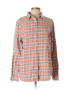 Lands' End Long Sleeve Button-Down Shirt Size 14 - 16 Tall (Tall)