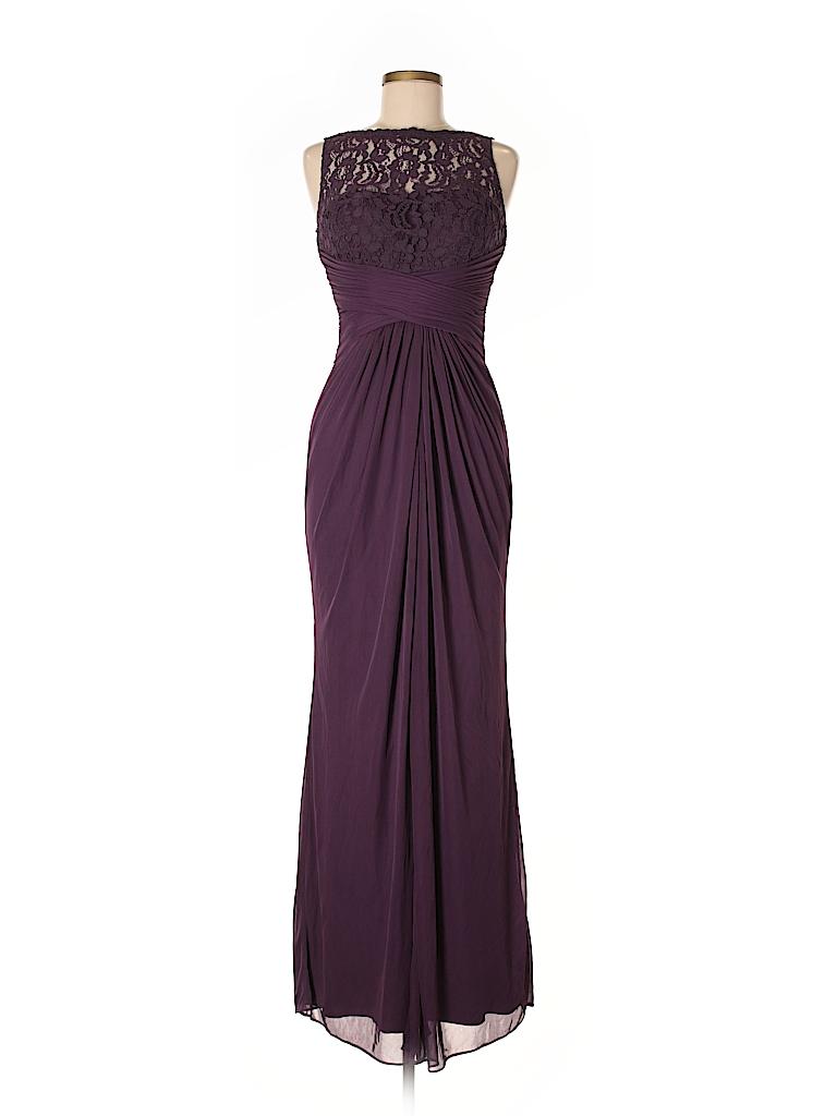 5bc812accc David s Bridal Lace Dark Purple Cocktail Dress Size 8 - 80% off ...