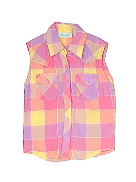 Wrangler Jeans Co Sleeveless Button-Down Shirt Size 2