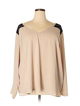 Eloquii Long Sleeve Blouse Size 28 (Plus)