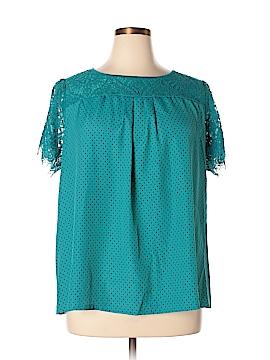 Worthington Short Sleeve Blouse Size 1X (Plus)