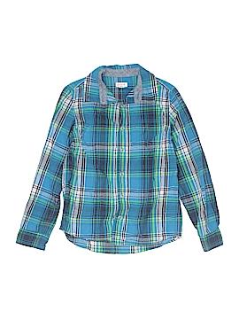 Cat & Jack Long Sleeve Button-Down Shirt Size 8 - 10