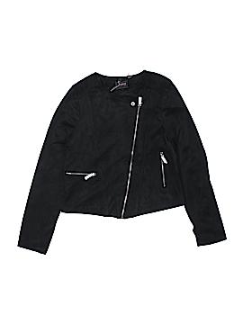 Dex Faux Leather Jacket Size 14