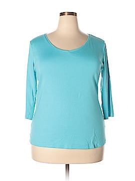 Charter Club 3/4 Sleeve T-Shirt Size 2X (Plus)