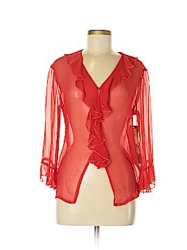 Lia Long Sleeve Silk Top Size S