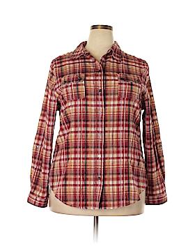 Alia Long Sleeve Button-Down Shirt Size 18 (Plus)