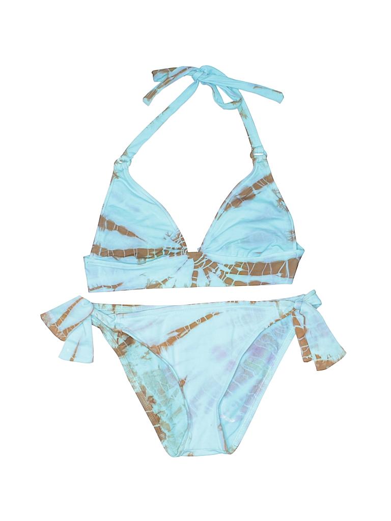 776ac1c39d Lucky Brand Animal Print Light Blue Swimsuit Top Size S - 65% off ...