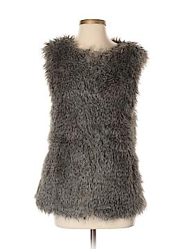 Mango Faux Fur Vest Size XS