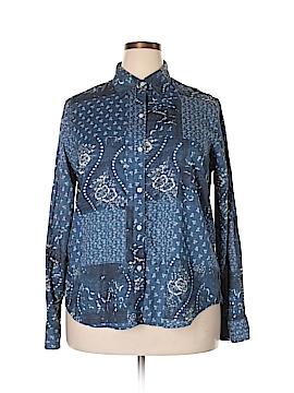 Chaps Long Sleeve Button-Down Shirt Size XXL