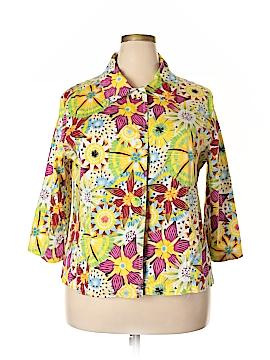 Bamboo Long Sleeve Button-Down Shirt Size 2X (Plus)