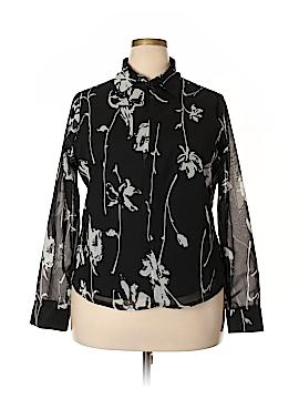Mlle Gabrielle Long Sleeve Blouse Size 1X (Plus)